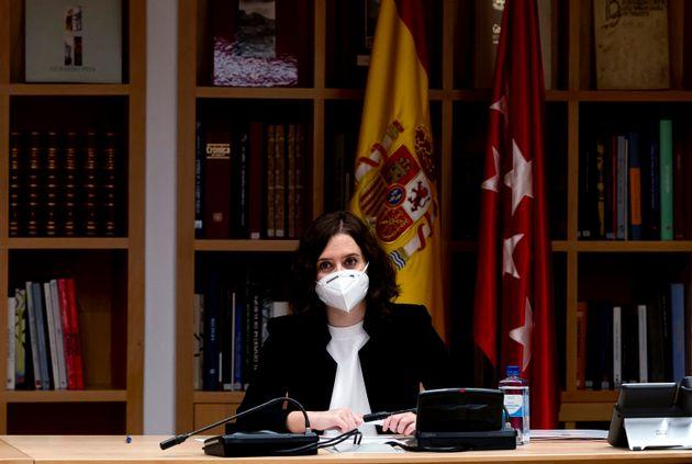 La presidenta de la Comunidad de Madrid, Isabel Díaz Ayuso, el 11 de mayo de 2020 (Samuel de Roman/Getty