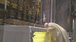 Francesco riapre la Basilica di San Pietro per celebrare Giovanni Paolo