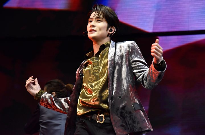 Jaehyun of NCT 127 performs during the 2019 99.7 NOW! Poptopia at SAP Center on December 5, 2019 in San Jose, California.
