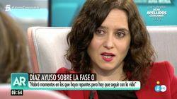 Ayuso asegura que la respuesta de Pedro Sánchez a sus preguntas fue: