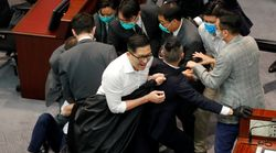 'Mayhem' Erupts In Hong Kong Legislature As Lawmakers Scuffle Over Committee