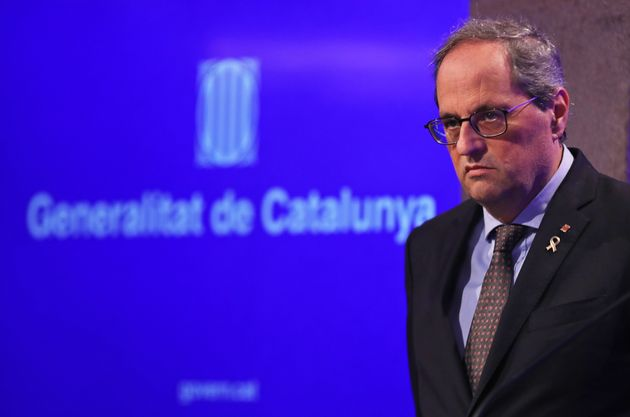 Quim Torra, fotografiado en Barcelona el 12 de marzo de 2020 (Joan Valls/Urbanandsport /NurPhoto via...
