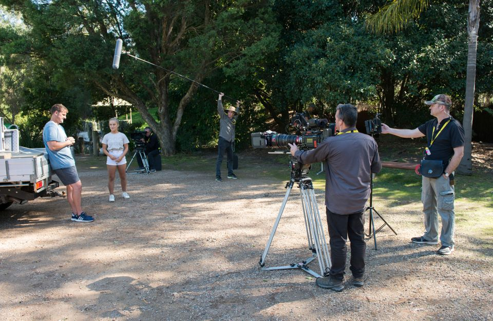 Cast and crews have been able to return to work in Australia, such as on the Neighbours set, but not...