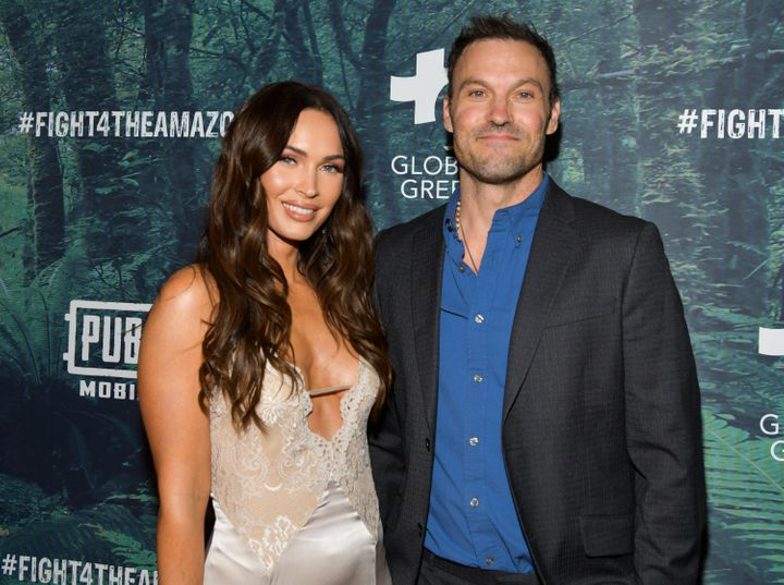 Megan Fox and Brian Austin Green attend an event together in December 2019.