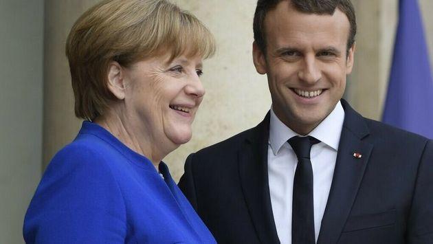 Los líderes de Alemania y Francia, juntos en una imagen de