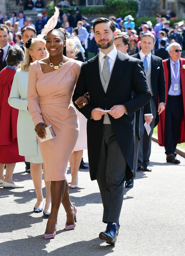 Serena Williams and her husband, Alexis Ohanian, arrive for the wedding ceremony.