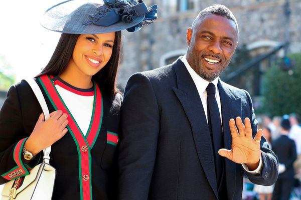 Idris Elba arrives with his fiancée (and now wife), Sabrina Dhowre.