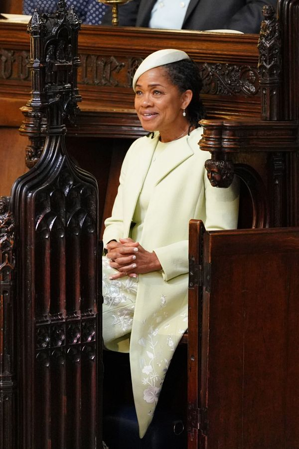 Doria Ragland takes her seat before the ceremony begins.