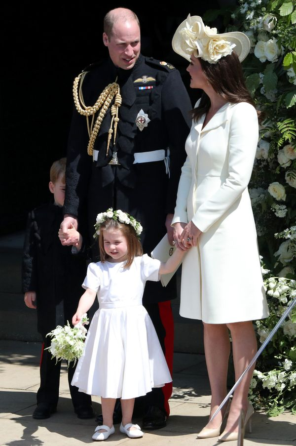 The Cambridges after attending the wedding ceremony of Harry and Meghan.