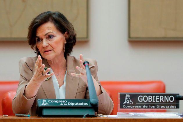 La vicepresidenta primera del Gobierno y ministra de la Presidencia, Carmen