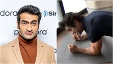 Kumail Nanjiani Shows He's Keeping Fit In Quarantine With 'Eternal Flame' Plank
