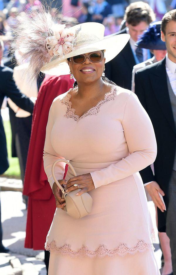 Oprah Winfrey, making her way into the chapel.