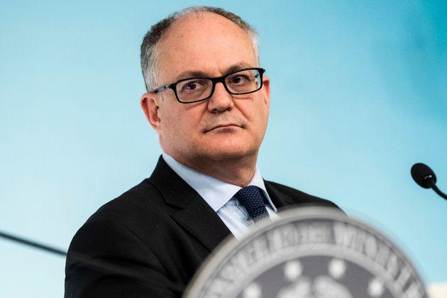 05/03/2020 Roma,Conferenza stampa al termine del Consiglio dei Ministri nella foto Roberto