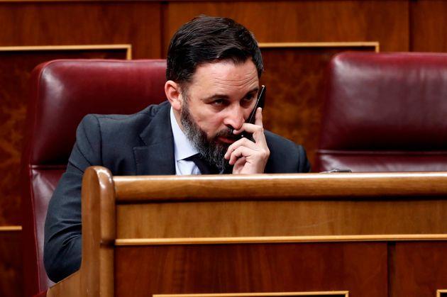 El líder de Vox, Santiago Abascal, el pasado 9 de abril en el