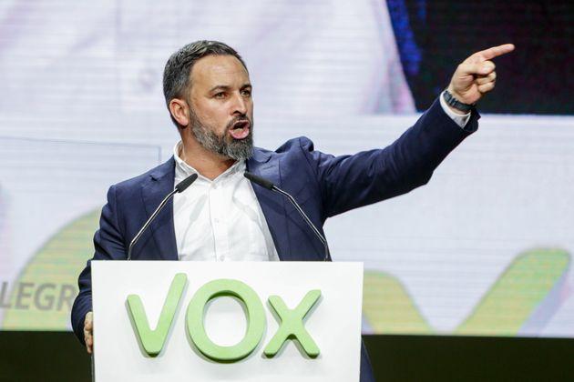 Santiago Abascal, el 8 de marzo de 2020 en Vistalegre, Madrid (Ricardo Rubio/Europa Press via Getty
