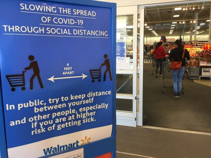Walmart saw a surge in sales after the pandemic began and shoppers stocked up on household staples.
