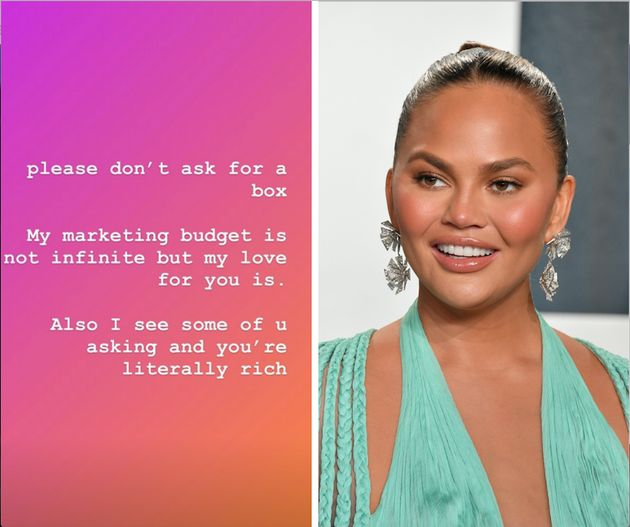 Chrissy Teigen Calls Out Her Thirsty Rich Friends Asking For Free