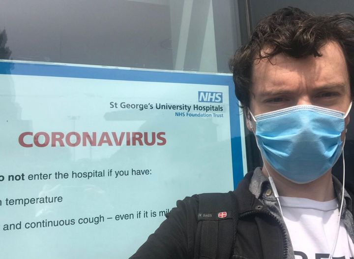 Jack Sommers, 34, who is taking part in the Covid-19 vaccine trial.