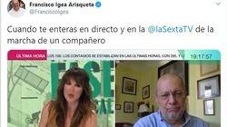 La reacción del vicepresidente de Castilla y León al enterarse en directo de la marcha de Marcos de