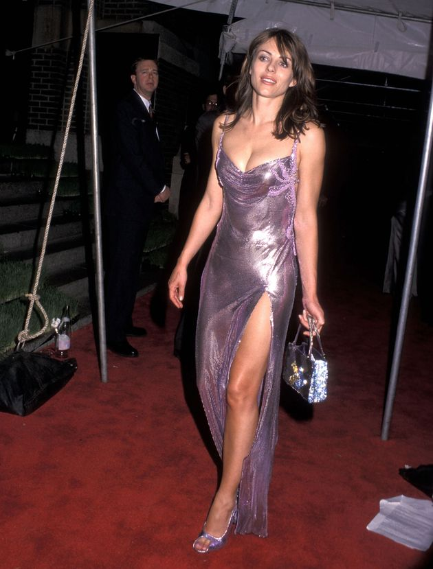Elizabeth Hurley attends the 18th Annual CFDA Awards on June 2, 1999, at the 69th Regiment Armory in...