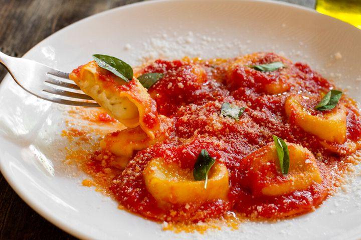 Ravioli da forneria San Paolo disponível no Delivery Solidário do Resaurant Week