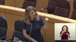 La dura réplica de Yolanda Díaz a una senadora del PP que están compartiendo miles de