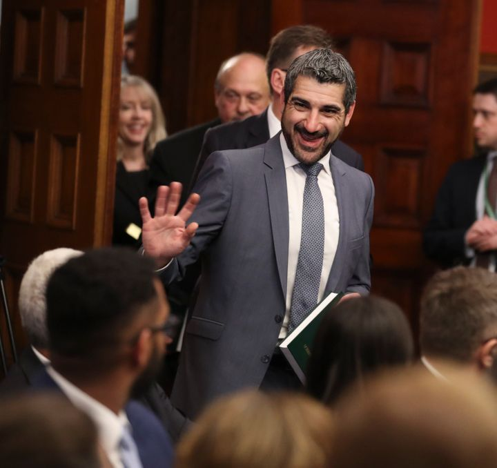 Minister of Colleges and Universities Ross Romano at Queen's Park. Romano has deferred the deadline for controversial new post-secondary funding conditions amid the pandemic.