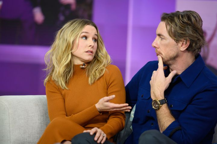 "Kristen Bell and Dax Shepard on ""Today"" in February."