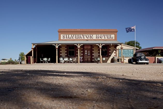 World famous outback pub, the Silverton Hotel in