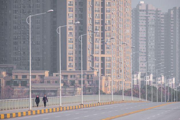 지난 1월28일 통행이 제한된 중국 우한 시내가 한적한