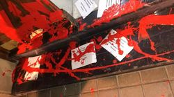 Atacan el domicilio de Idoia Mendia con pintura roja y octavillas con la palabra