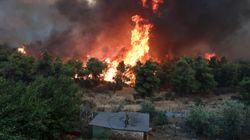Φωτιά στον δήμο Μαλεβιζίου στην