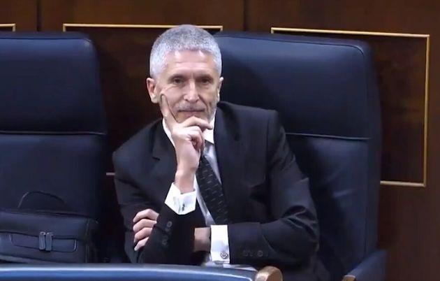 Fernando Grande-Marlaska durante la intervención de Íñigo
