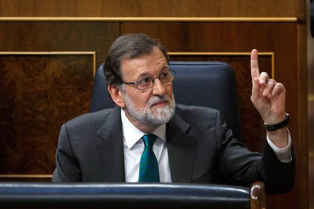 El expresidente del Gobierno, Mariano Rajoy, durante la sesión de la moción de