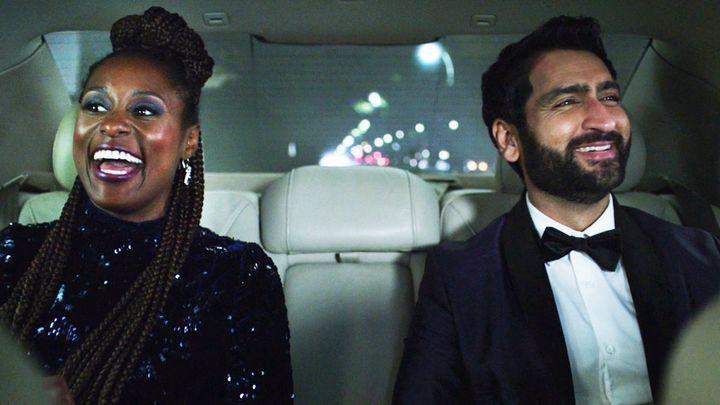 "Issa Rae and Kumail Nanjiani in Netflix's ""The Lovebirds."""