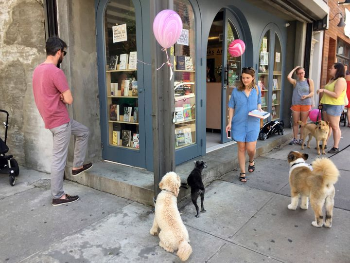 A bustling Books Are Magic on its opening day in April 2017. Three years later, the store would be closed for browsing due to