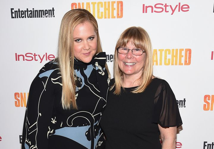"""Amy Schumer and her mother, Sandra Schumer, at the New York premiere of the 2017 film """"Snatched."""""""