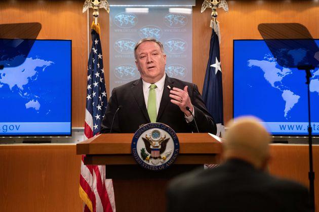 마이크 폼페이오 미국 국무장관. 2020. 5.