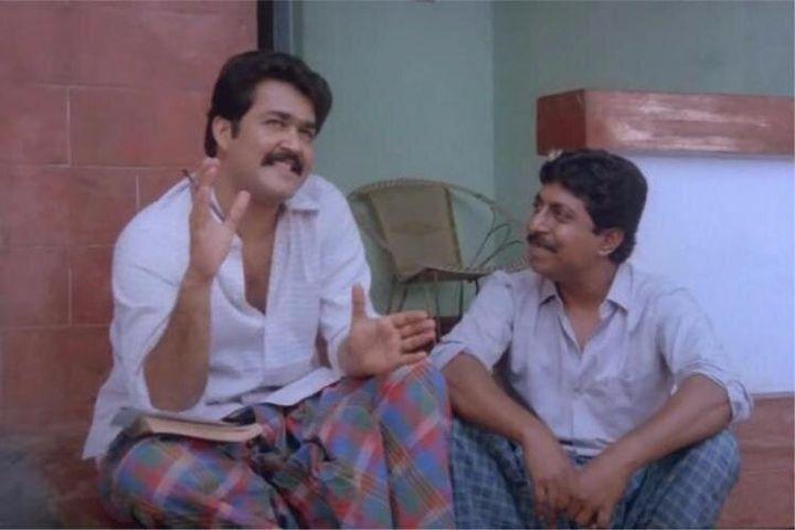 Mohanlal and Sreenivasan in 'Nadodikattu'