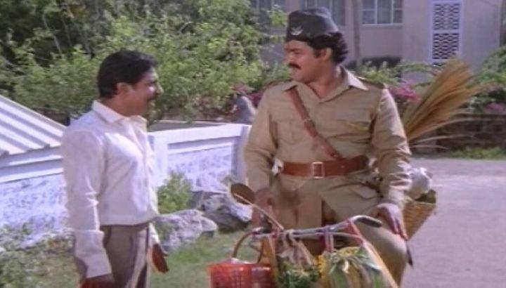 Sreenivasan and Mohanlal in 'Gandhingar 2nd Street'