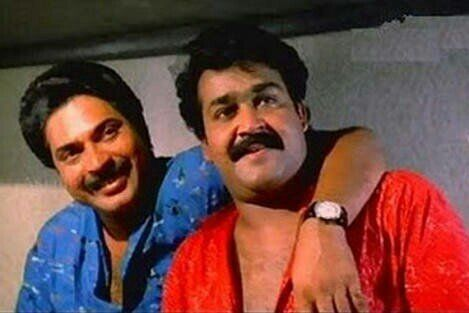 Mammootty and Mohanlal in 'No. 20 Madras Mail'