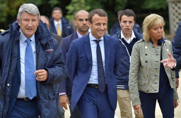 Image d'illustration - Quand Emmanuel Macron et son épouse Brigitte Macron allaient à la rencontre de...