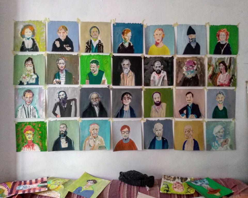 Alcune ritratti di Francesco Lauretta, aprile-maggio