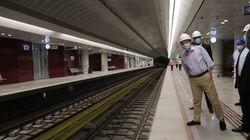 Αυτοψία Καραμανλή στον υπό παράδοση σταθμό μετρό «Αγ.
