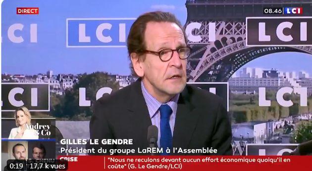Gilles Le Gendre, président du groupe LREM à l'Assemblée