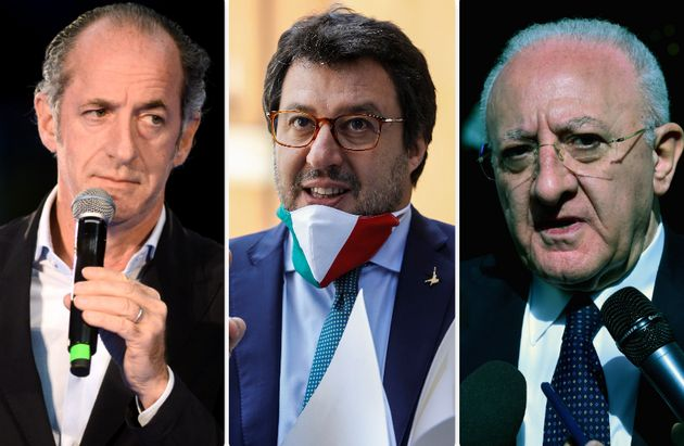 Luca Zaia, Matteo Salvini e Vincenzo De