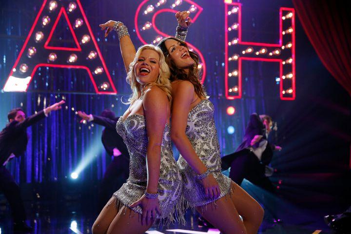 "Megan Hilty as Ivy Lynn and Katharine McPhee as Karen Cartwright in the ""Smash"" series finale."