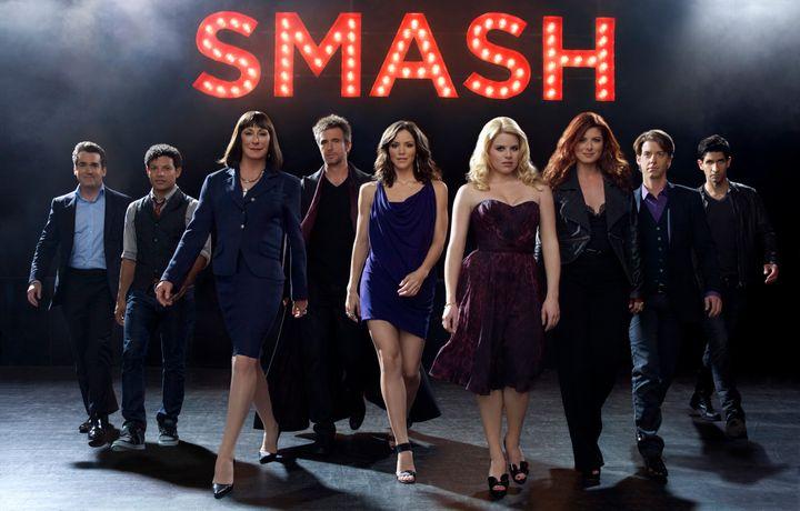 "The cast of ""Smash"" Season one."