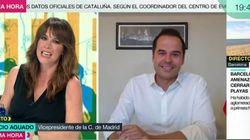 Ignacio Aguado se entera en directo del nacimiento del hijo de Arrimadas: su cara lo dice