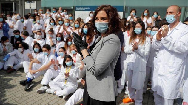 Díaz Ayuso, en el cierre del hospital de